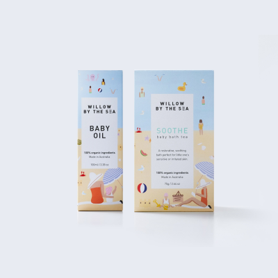 Willow By The Sea Soothe Baby Bathing Baby Oil Gift Set