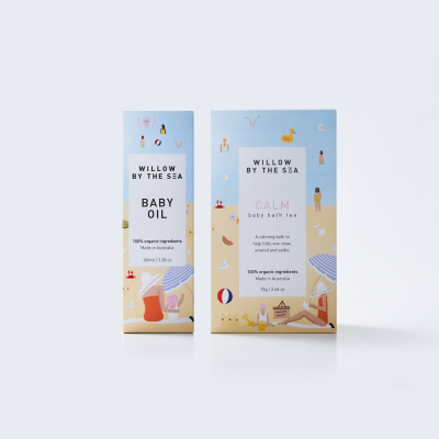 Willow By The Sea Calm Baby Bathing Baby Oil Gift Set